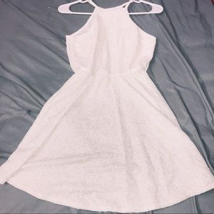 SPARKLY OFF WHITE SKATER DRESS